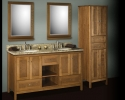 Strasser Shaker Inset Door Vanity Natural Cherry