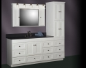 "Strasser Shaker 60"" Vanity with Linen Tower"