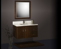 Strasser Slab Door Wall Hung Vanity Chocolate Cherry