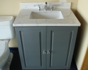 Omega Potomac Vanity In Maple Battleship Finish