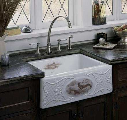 Superbe Kohler Alcott Game Birds Design Sink
