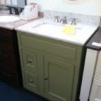 Omega 27″ Pesto vanity with Silestone top