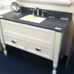 Omega 48″ Sojourn furniture vanity with Quartz top